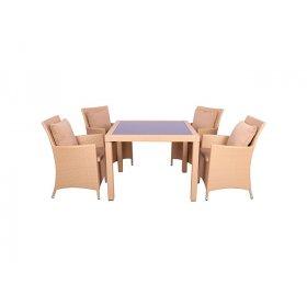 Комплект мебели Samana-4 из ротанга Elit (SC-8849-S2) Sand AM3041 ткань A14203