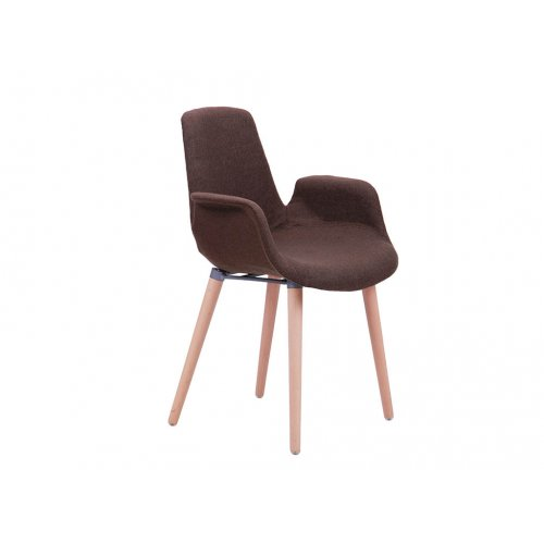 Кресло Leonar FB Wood пластик коричневый
