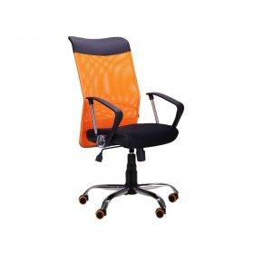 Кресло АЭРО HB Line Color (сиденье черное Неаполь N-20/спинка сетка оранжевая)