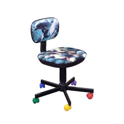 Кресло детское Бамбо дизайн №5 Дельфины