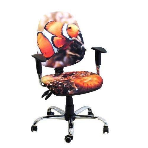 Кресло детское Бридж хром дизайн №6 Рыбка