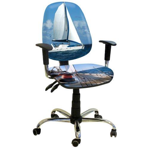 Кресло детское Бридж хром дизайн №18 Яхта