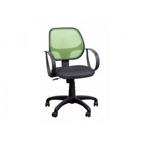 Кресло Бит/АМФ-7 сиденье сетка черная/спинка сетка лайм