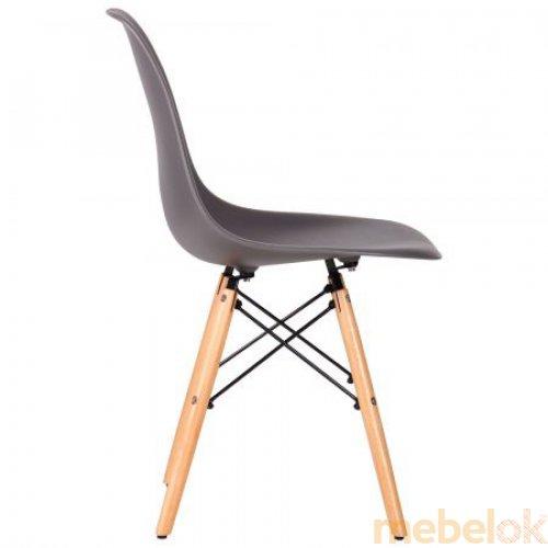 стілець з виглядом в обстановці (Стілець Aster PL Wood Базальт)