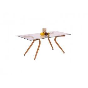 Стол журнальный Willow каркас бук/стекло прозрачное