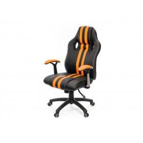 Кресло Гурон PL SR чёрно-оранжевый