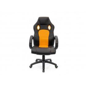 Кресло Анхель PL TILT чёрно-оранжевый