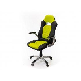 Кресло Форсаж-8 PL GTR TILT чёрно-салатовый
