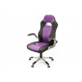 Кресло Форсаж-8 PL GTR TILT чёрно-фиолетовый