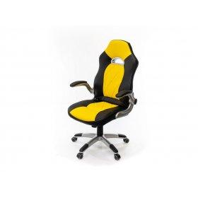 Кресло Форсаж-8 PL GTR TILT чёрно-жёлтый