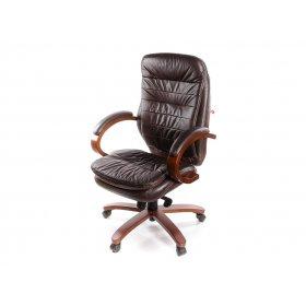 Кресло Валенсия EX MB кожа коричневый