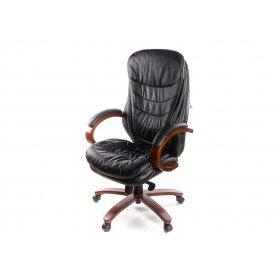 Кресло Валенсия Soft EX MB кожа чёрный