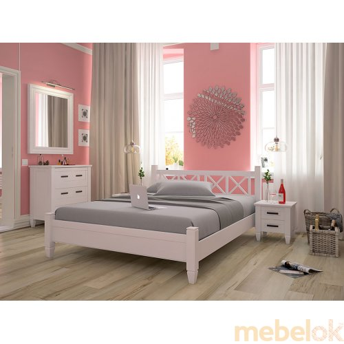 Кровать из ольхи Прованс 180х200