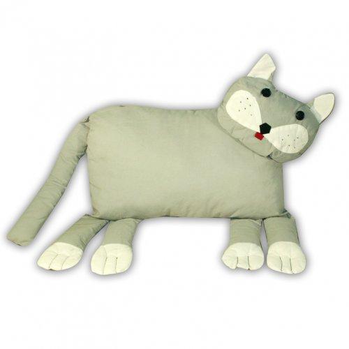 Игрушка-подушка Кот серый