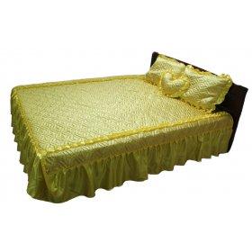 Комплект для спальни желтый атлас