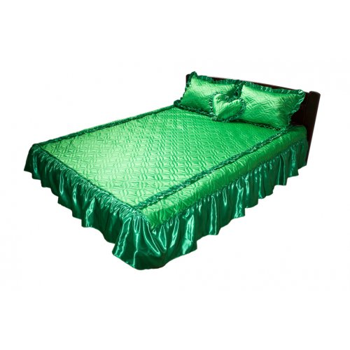 Комплект для спальни зеленый атлас