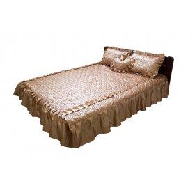 Комплект для спальни бежевый атлас