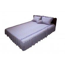 Комплект для спальни серо-сиреневый атлас