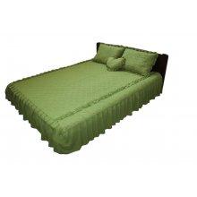 Комплект для спальни оливковый шифон