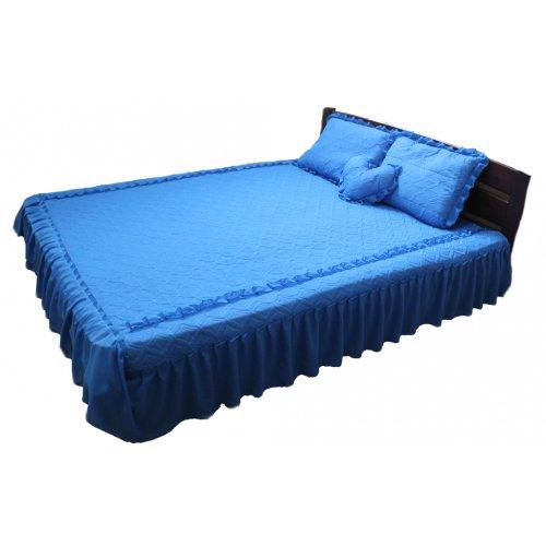 Комплект для спальни синий шифон