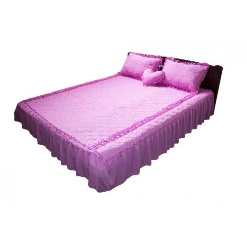 Комплект для спальни розовый шифон