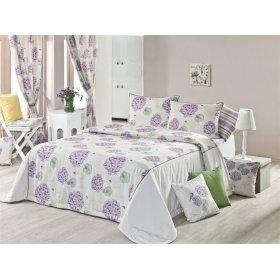 Комплект для спальни Лиловая Гортензия 240х240 (покрывало и наволочки)