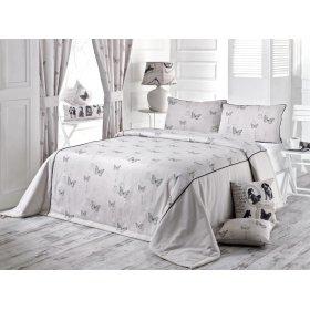 Комплект для спальни Черно-белая бабочка 240х240 (покрывало и наволочки)