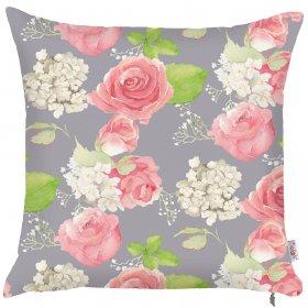 Декоративная подушка Hydrangea gray 43х43