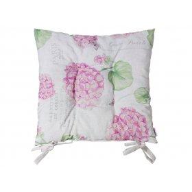 Подушка на стул Розовая Гортензия 43х43