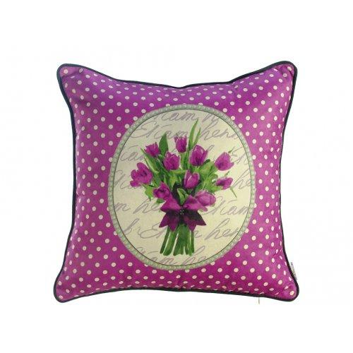 Подушка Время тюльпанов-1 45х45