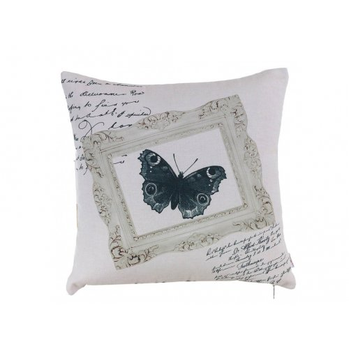 Подушка Черно-белая бабочка-1 45х45