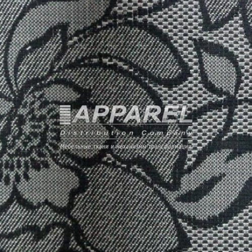 Рогожка Arkadia flowers grey