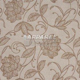 Рогожка Geneva flowers beige 06