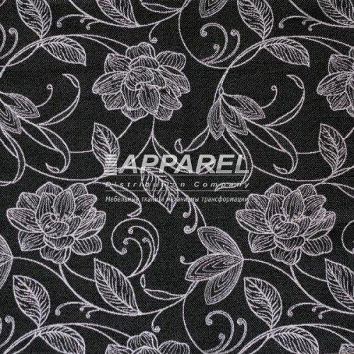 Рогожка Geneva flowers black 10