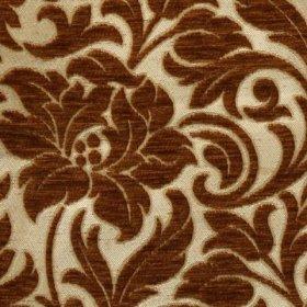 Ткань Шенилл Adajio frowers ling brown