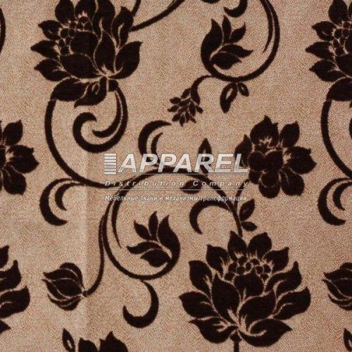 Ткань Шенилл Bruksel flowers brown