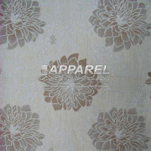 Ткань Шенилл Hrizantem flowers beige