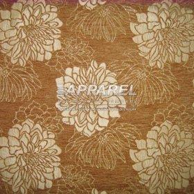 Ткань Шенилл Hrizantem flowers gold