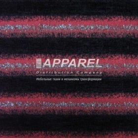 Ткань Шенилл Hrizantem stripe blask red