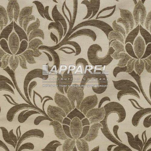 Ткань Шенилл Kristal flowers beige 32