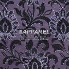 Ткань Шенилл Kristal flowers blask 13