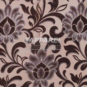 Ткань Шенилл Kristal flowers brown 38