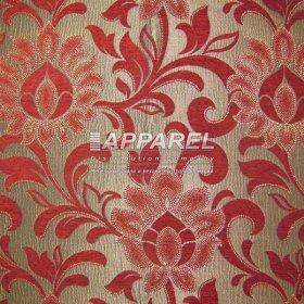 Ткань Шенилл Kristal flowers bordo 10