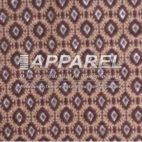Ткань Шенилл Kristal rombiki brown 38