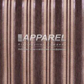 Ткань Шенилл Kristal stripe brown 38