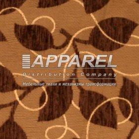 Ткань Шенилл Liona flowers dark brown