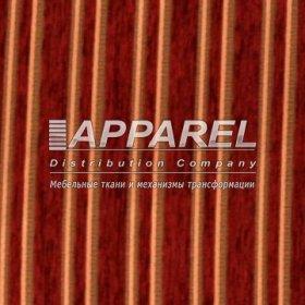 Ткань Шенилл Liona stripe bordo