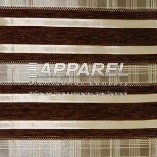 Ткань Шенилл Yaren chocolate stripe