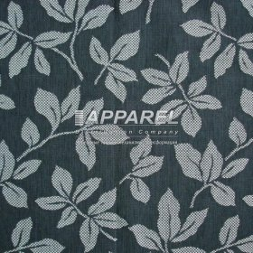Жаккард Leroy flowers dark grey