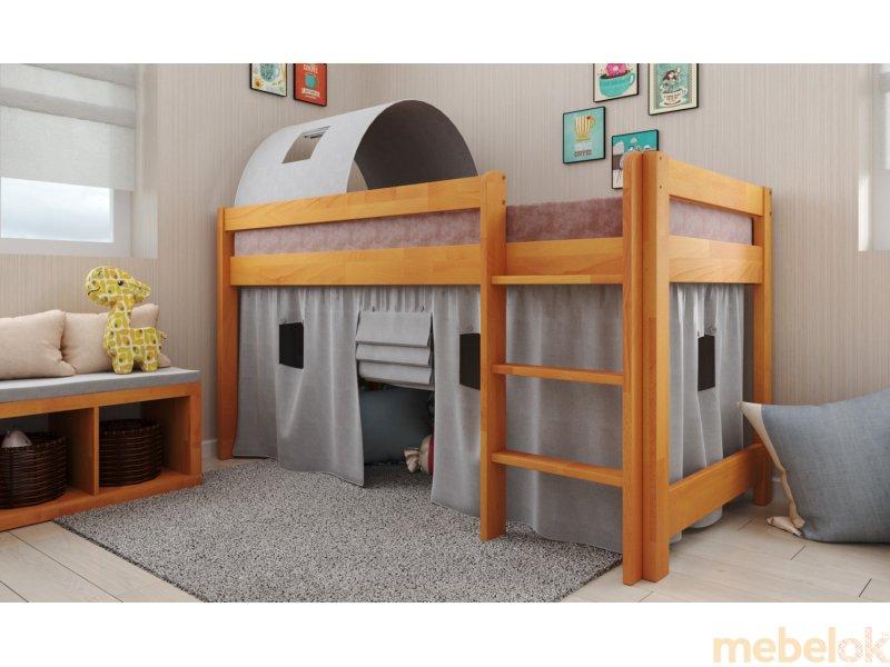 Кровать-чердак Адель бук 90х190 от фабрики Арбор Древ